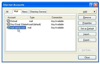 screen shot of Windows account selection form